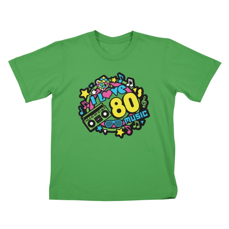 World Music Day - I Love 80s Music Kids T-Shirt by Moon Joggers's Artist Shop