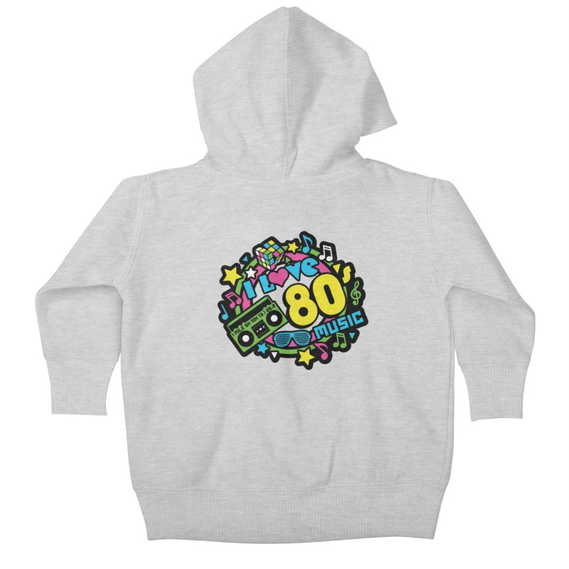World Music Day - I Love 80s Music Kids Baby Zip-Up Hoody by Moon Joggers's Artist Shop