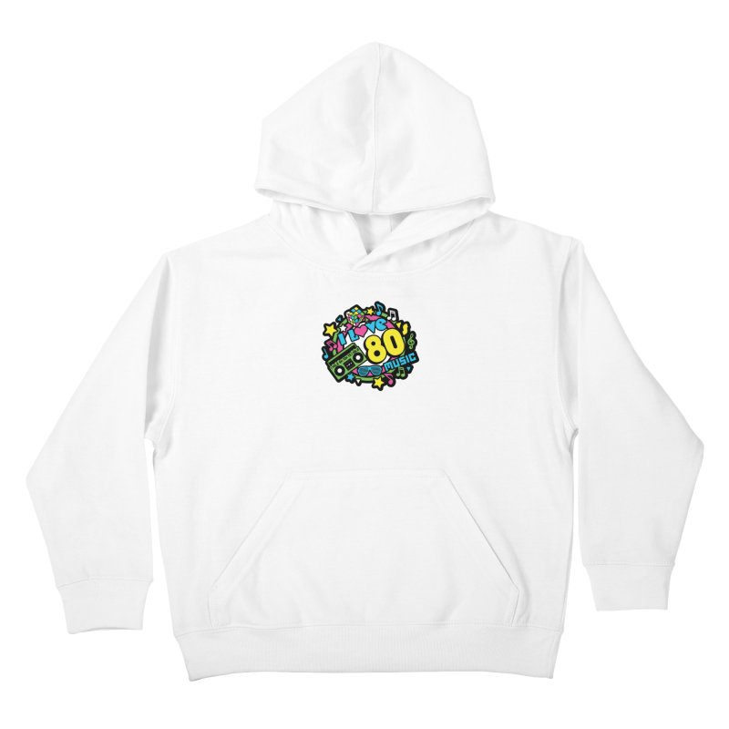 World Music Day - I Love 80s Music Kids Pullover Hoody by Moon Joggers's Artist Shop