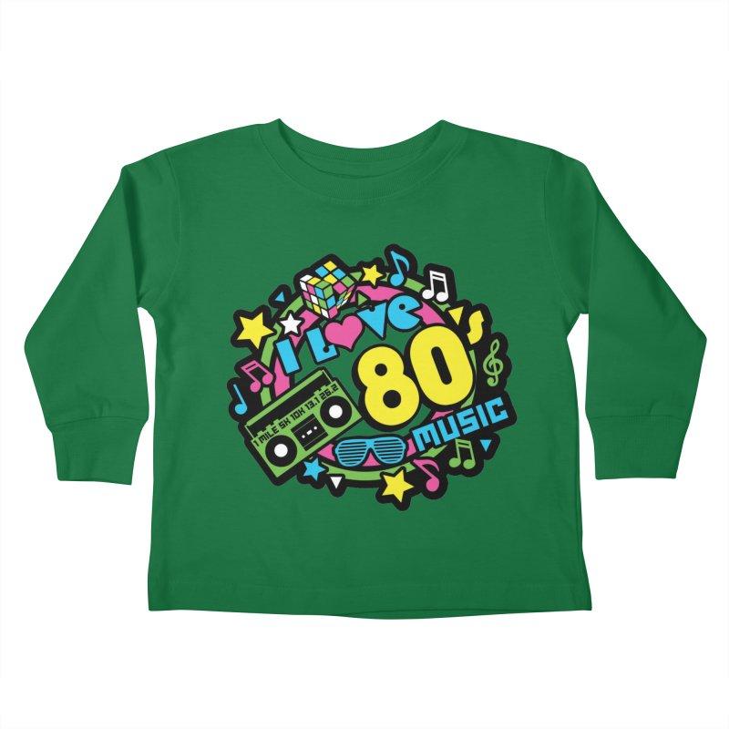 World Music Day - I Love 80s Music Kids Toddler Longsleeve T-Shirt by Moon Joggers's Artist Shop