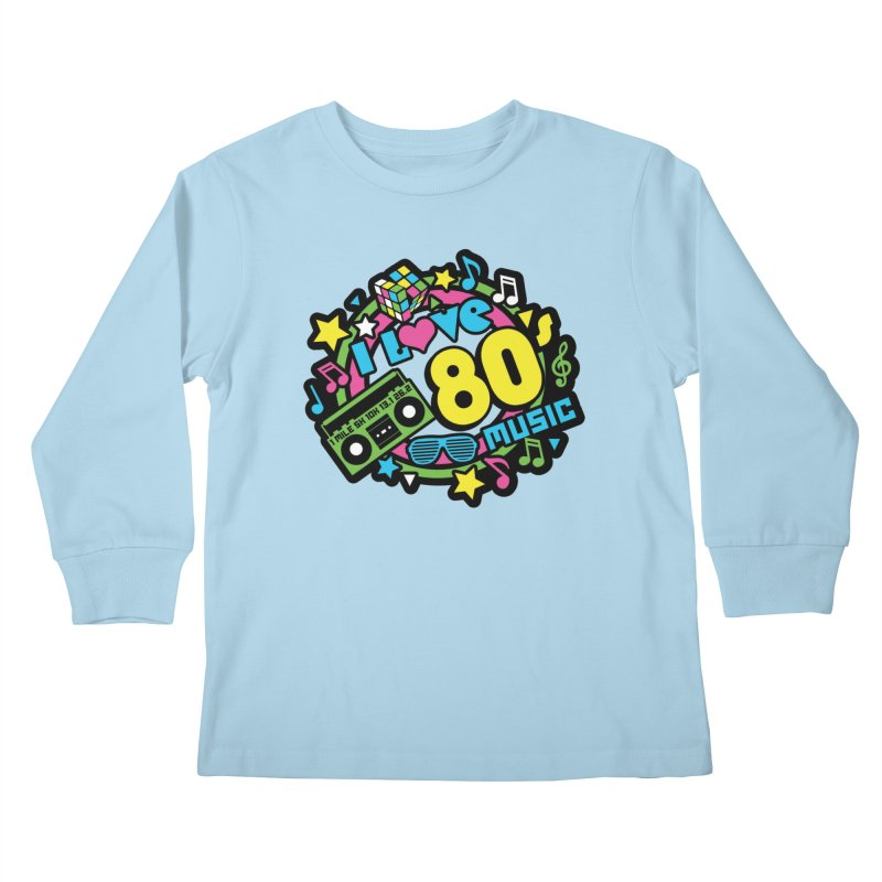 World Music Day - I Love 80s Music Kids Longsleeve T-Shirt by Moon Joggers's Artist Shop
