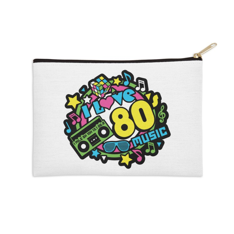 World Music Day - I Love 80s Music Accessories Zip Pouch by Moon Joggers's Artist Shop