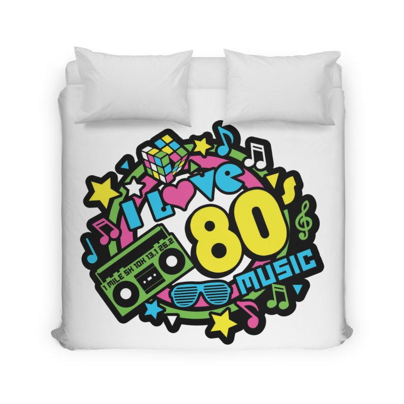World Music Day - I Love 80s Music Home Duvet by Moon Joggers's Artist Shop