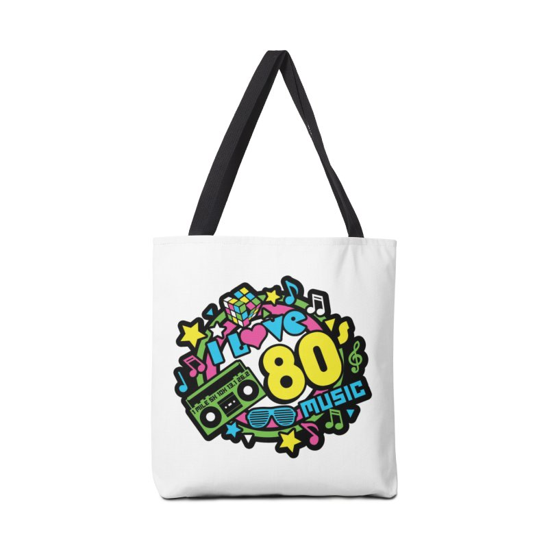 World Music Day - I Love 80s Music Accessories Tote Bag Bag by Moon Joggers's Artist Shop