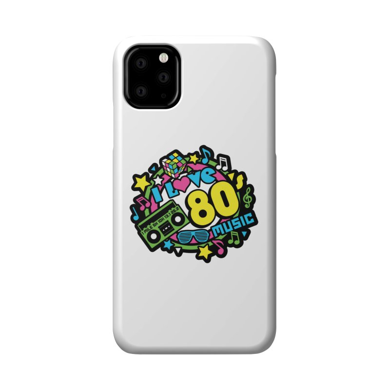 World Music Day - I Love 80s Music Accessories Phone Case by Moon Joggers's Artist Shop
