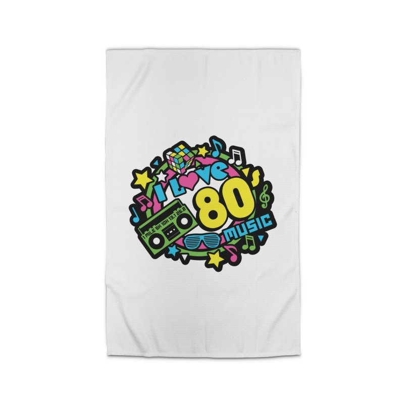 World Music Day - I Love 80s Music Home Rug by Moon Joggers's Artist Shop