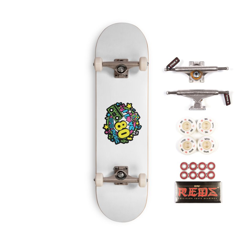 World Music Day - I Love 80s Music Accessories Complete - Pro Skateboard by Moon Joggers's Artist Shop