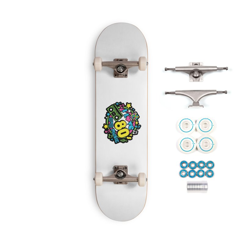 World Music Day - I Love 80s Music Accessories Complete - Basic Skateboard by Moon Joggers's Artist Shop