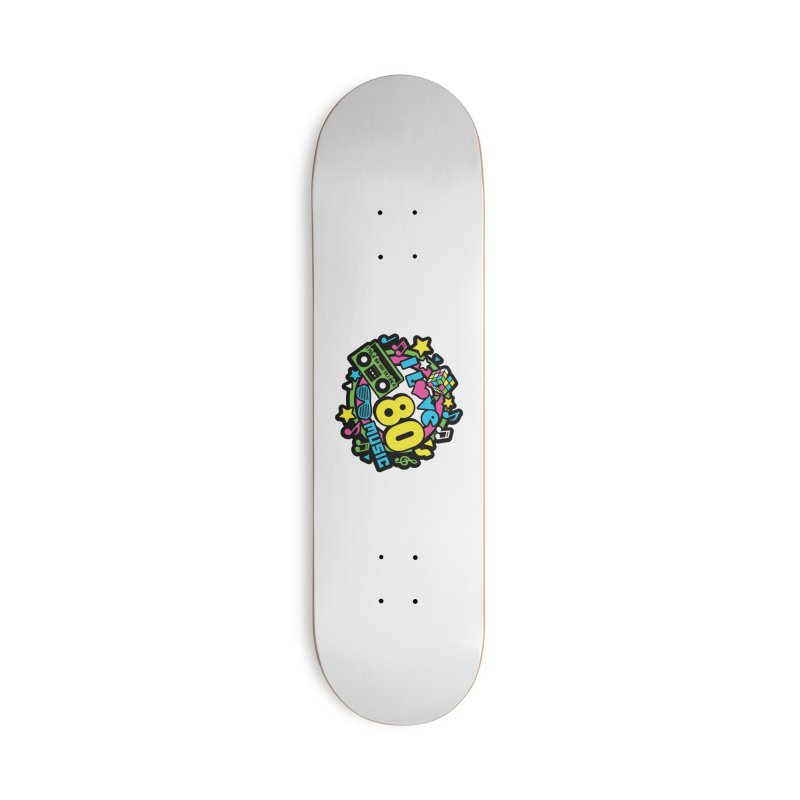 World Music Day - I Love 80s Music Accessories Deck Only Skateboard by Moon Joggers's Artist Shop