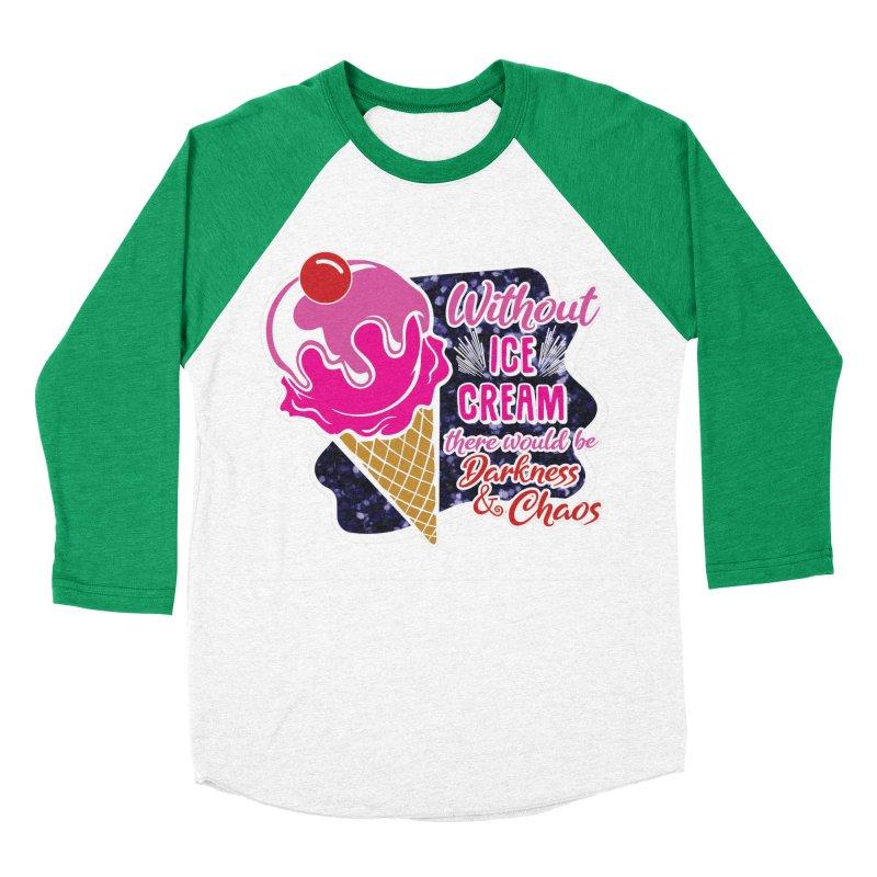 Ice Cream Day Women's Baseball Triblend Longsleeve T-Shirt by Moon Joggers's Artist Shop