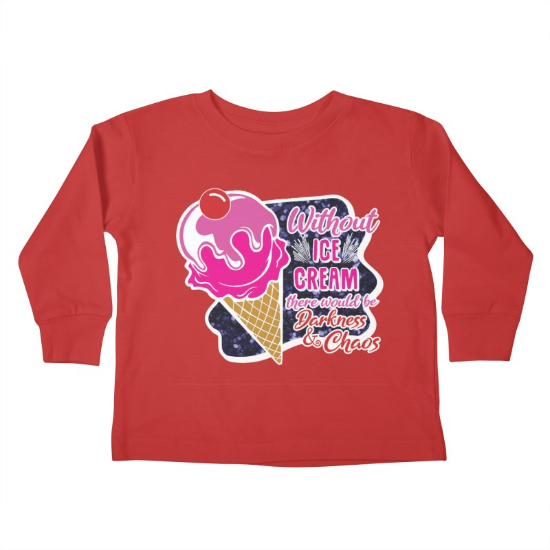 Ice Cream Day Kids Toddler Longsleeve T-Shirt by Moon Joggers's Artist Shop