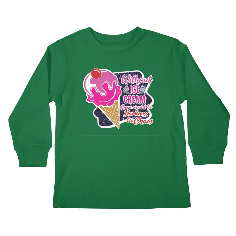 Ice Cream Day Kids Longsleeve T-Shirt by Moon Joggers's Artist Shop