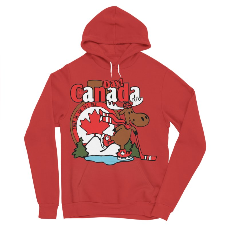 Canada Day Women's Sponge Fleece Pullover Hoody by Moon Joggers's Artist Shop