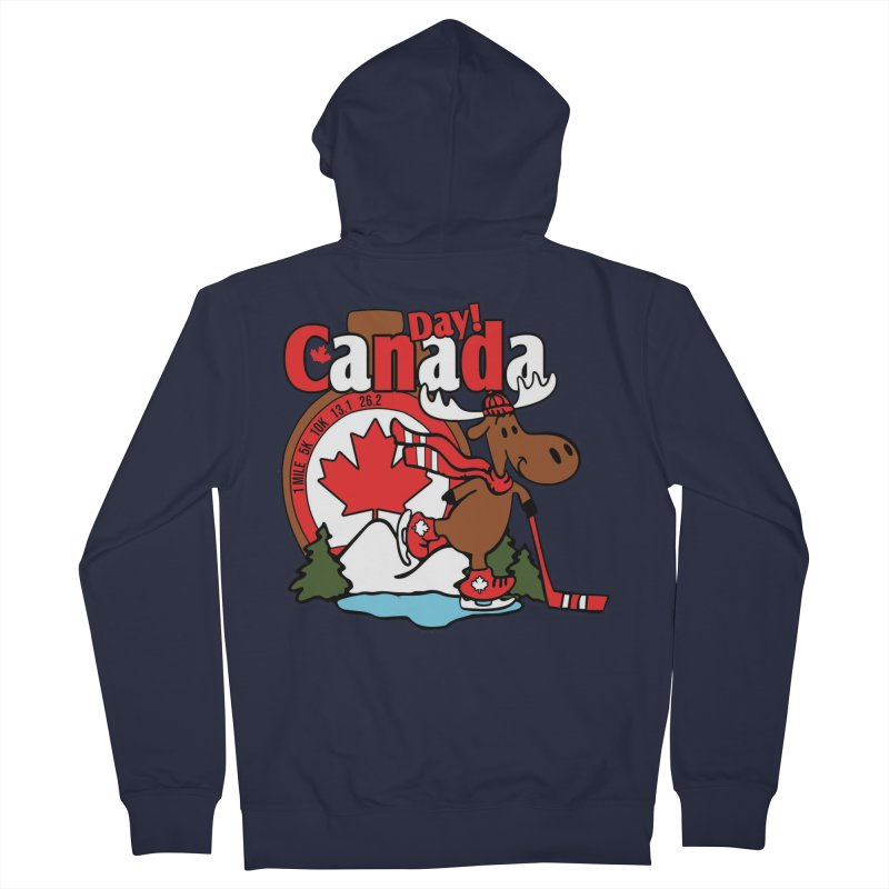 Canada Day Women's French Terry Zip-Up Hoody by Moon Joggers's Artist Shop