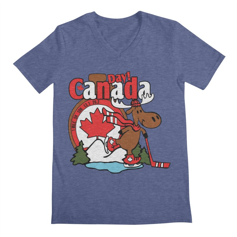 Canada Day Men's Regular V-Neck by Moon Joggers's Artist Shop