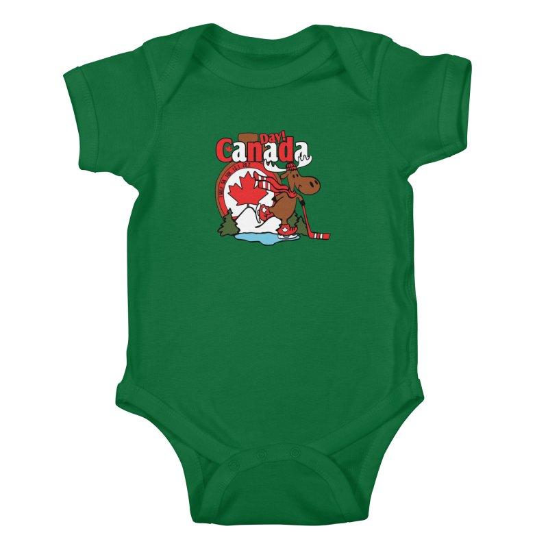 Canada Day Kids Baby Bodysuit by Moon Joggers's Artist Shop