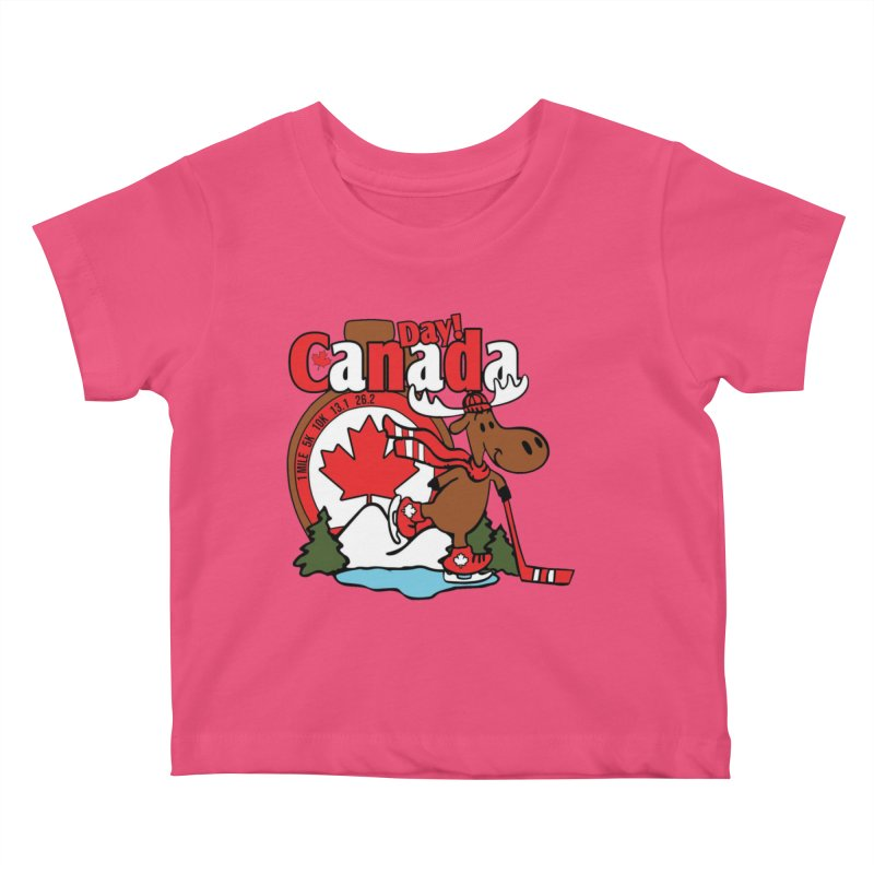 Canada Day Kids Baby T-Shirt by Moon Joggers's Artist Shop