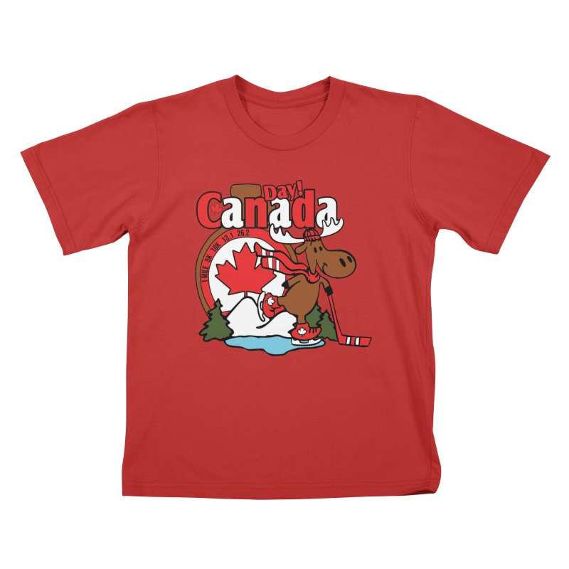 Canada Day Kids T-Shirt by Moon Joggers's Artist Shop