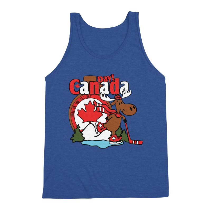 Canada Day Men's Triblend Tank by Moon Joggers's Artist Shop