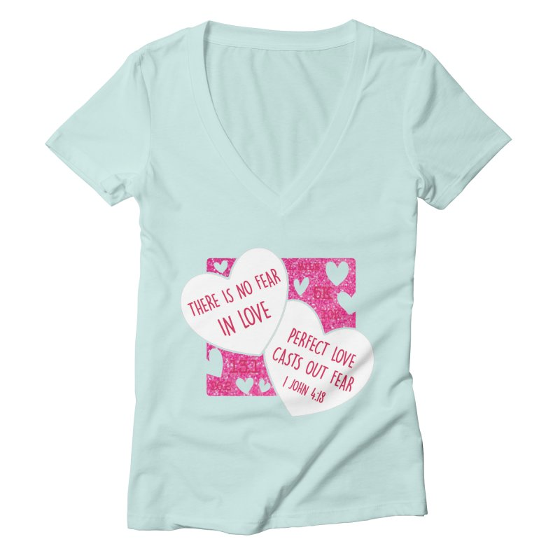 Perfect Love Women's Deep V-Neck V-Neck by Moon Joggers's Artist Shop