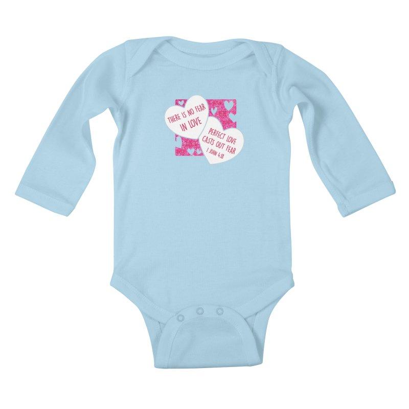 Perfect Love Kids Baby Longsleeve Bodysuit by Moon Joggers's Artist Shop