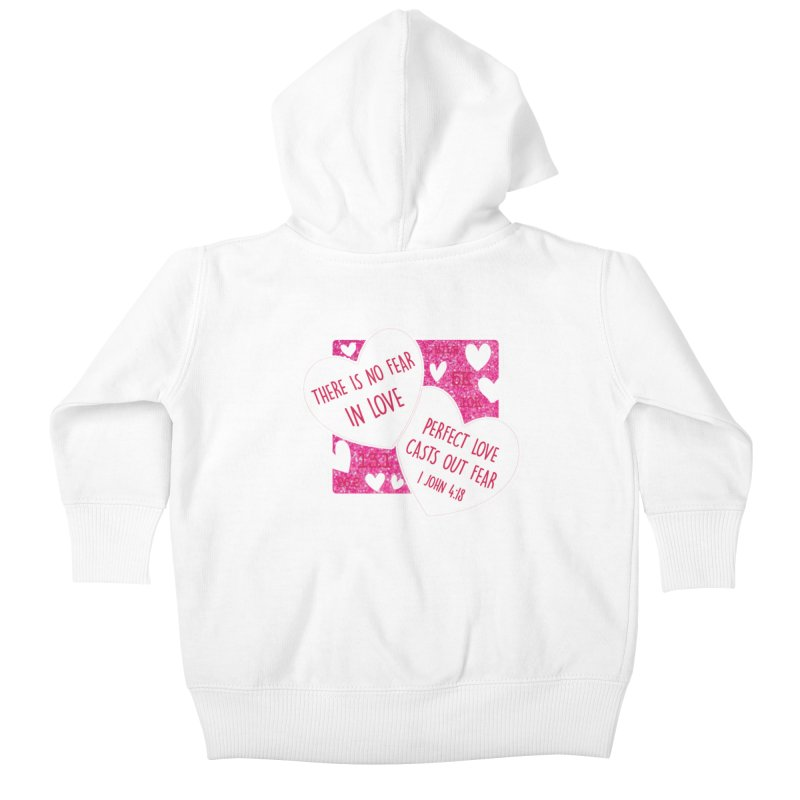 Perfect Love Kids Baby Zip-Up Hoody by Moon Joggers's Artist Shop
