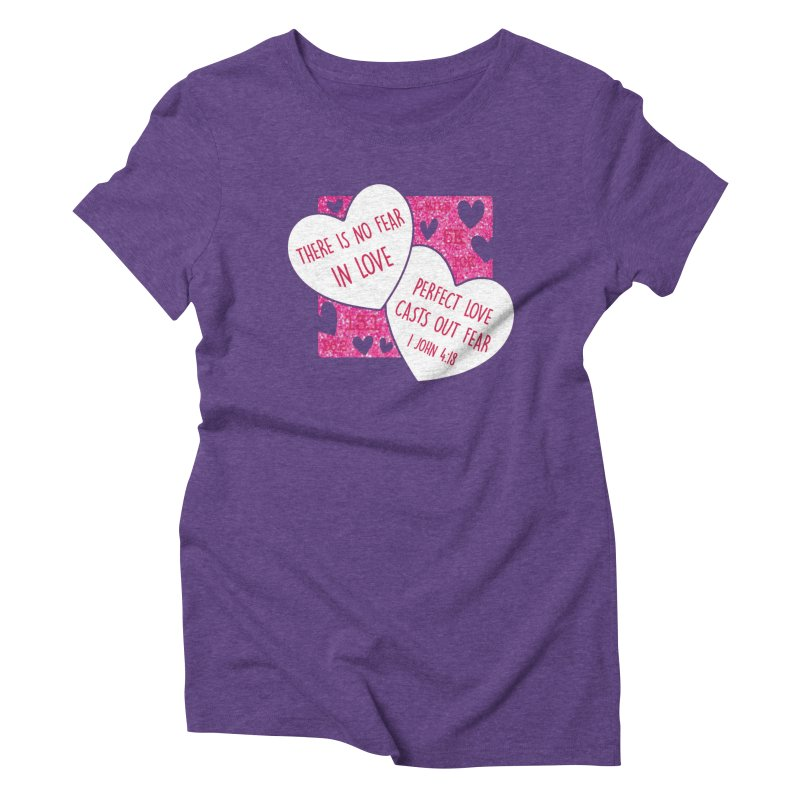 Perfect Love Women's Triblend T-Shirt by Moon Joggers's Artist Shop