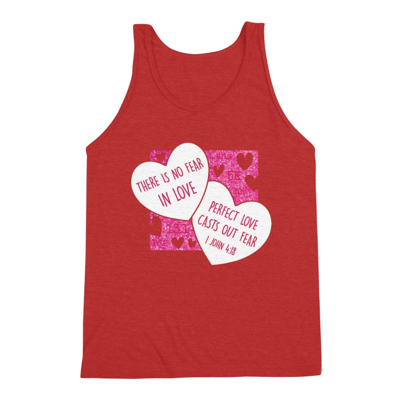 Perfect Love Men's Triblend Tank by Moon Joggers's Artist Shop