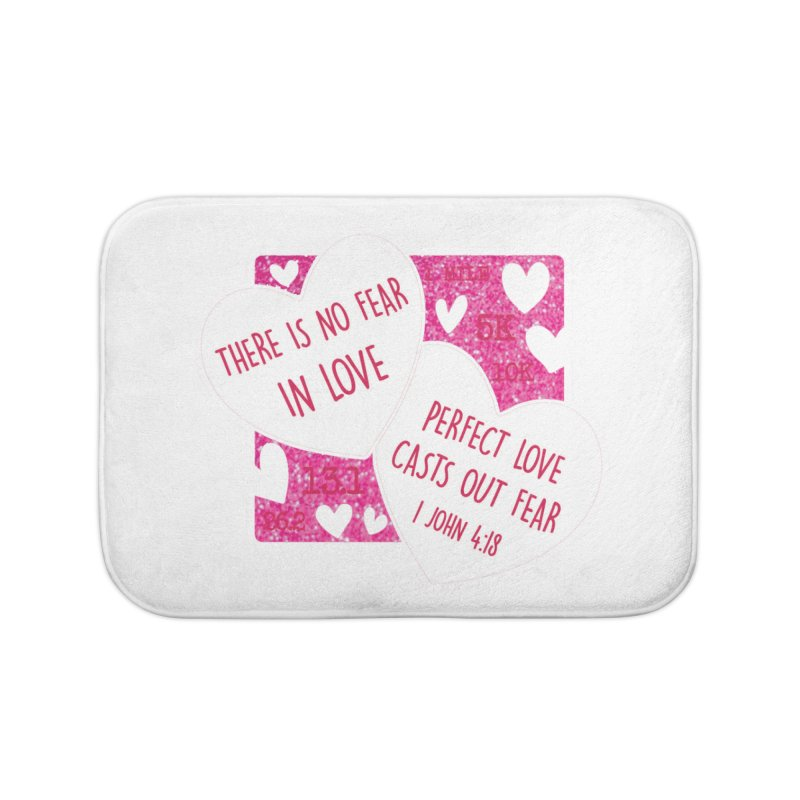 Perfect Love Home Bath Mat by Moon Joggers's Artist Shop
