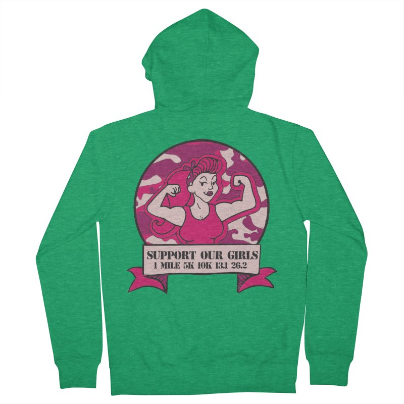 Support Our Girls Women's French Terry Zip-Up Hoody by Moon Joggers's Artist Shop