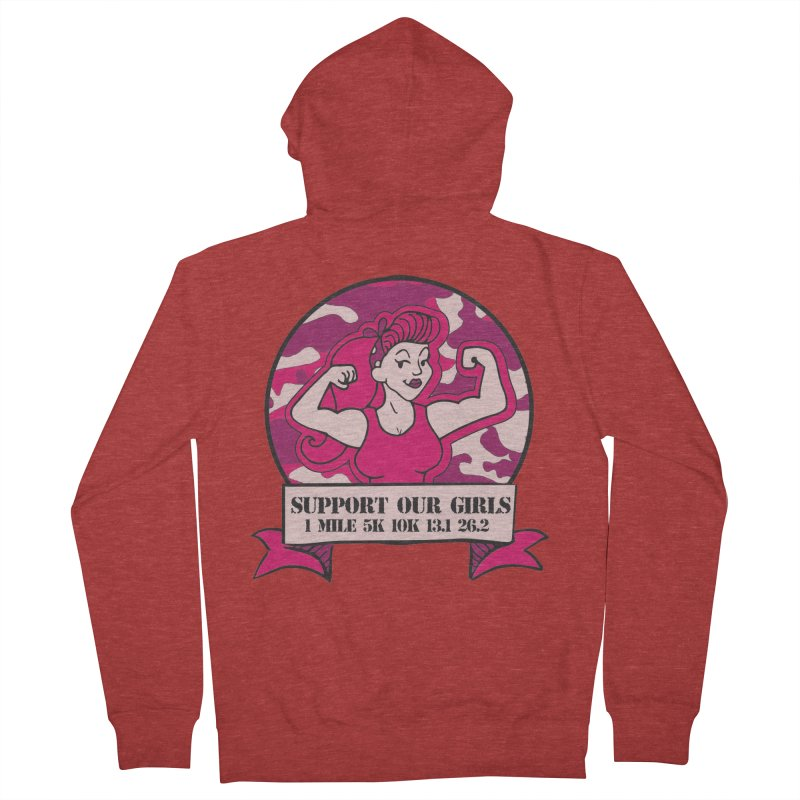 Support Our Girls Men's French Terry Zip-Up Hoody by Moon Joggers's Artist Shop