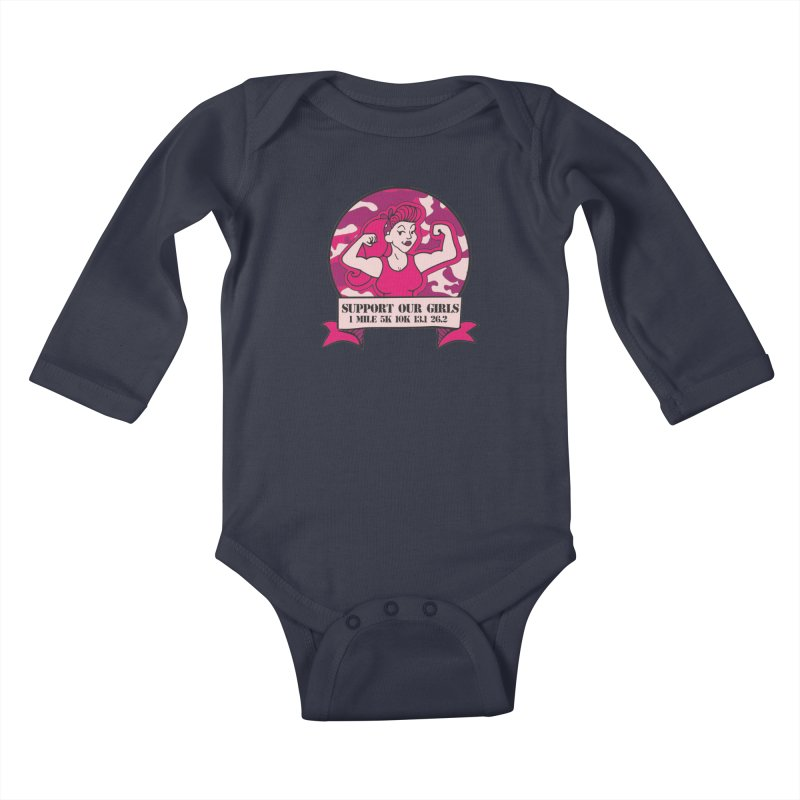 Support Our Girls Kids Baby Longsleeve Bodysuit by Moon Joggers's Artist Shop