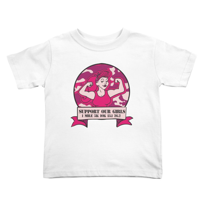 Support Our Girls Kids Toddler T-Shirt by Moon Joggers's Artist Shop