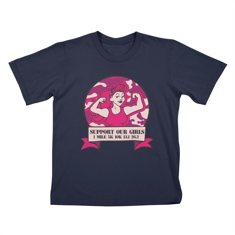 Support Our Girls Kids T-Shirt by Moon Joggers's Artist Shop