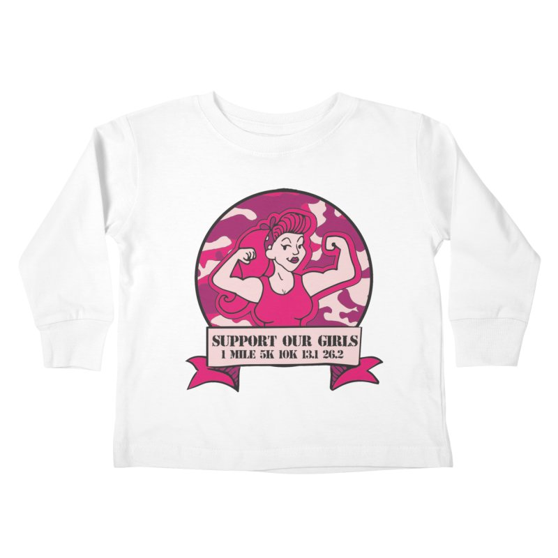 Support Our Girls Kids Toddler Longsleeve T-Shirt by Moon Joggers's Artist Shop
