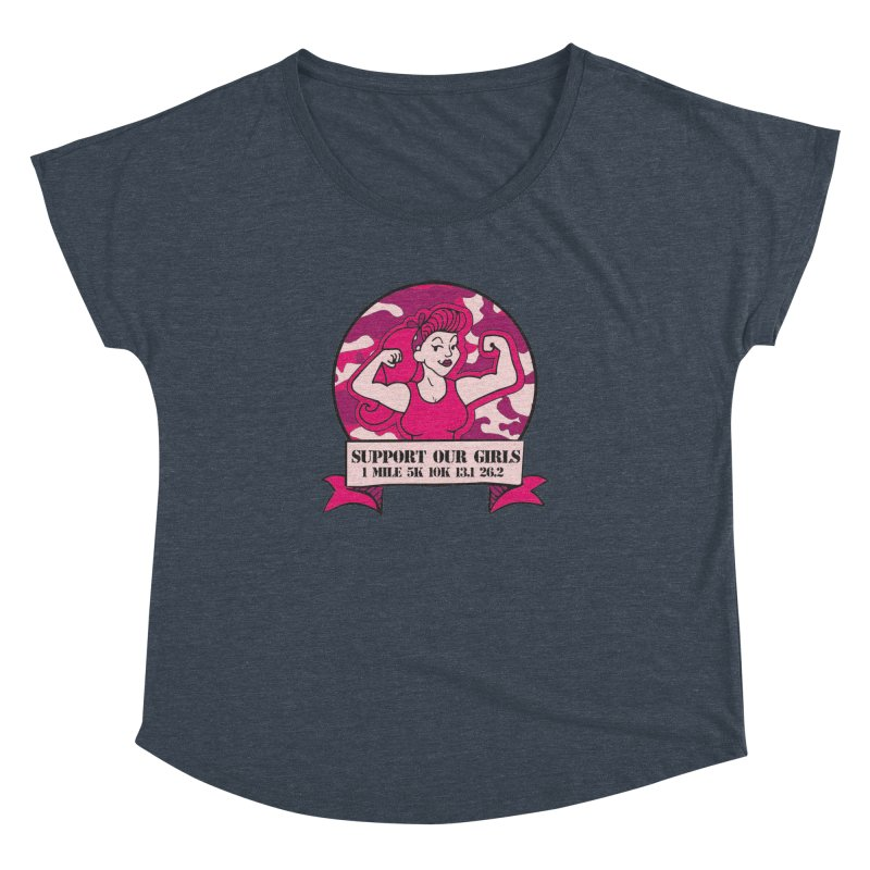 Support Our Girls Women's Dolman Scoop Neck by Moon Joggers's Artist Shop