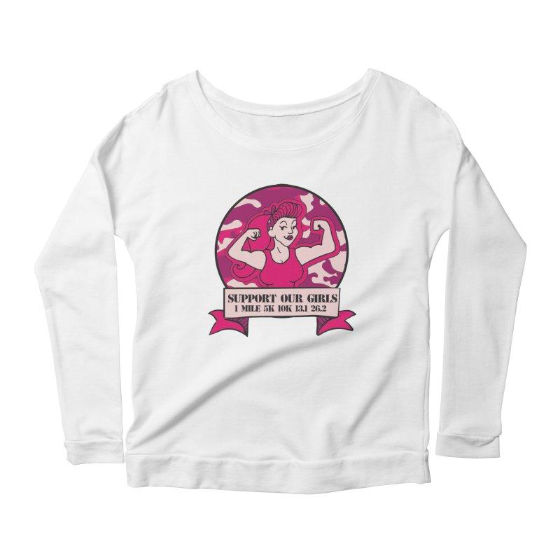 Support Our Girls Women's Scoop Neck Longsleeve T-Shirt by Moon Joggers's Artist Shop