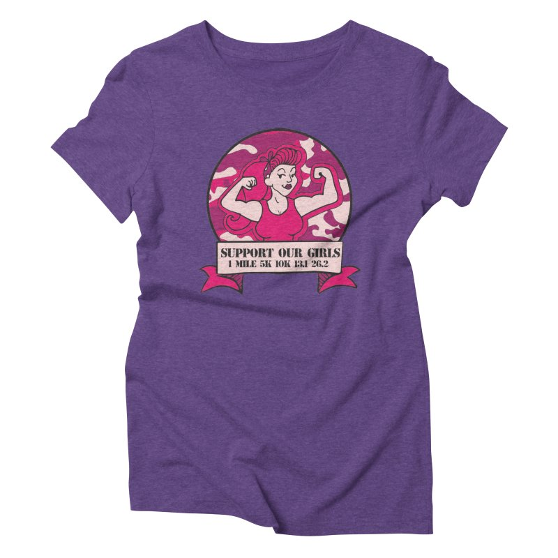 Support Our Girls Women's Triblend T-Shirt by Moon Joggers's Artist Shop