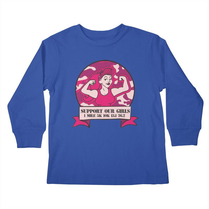 Support Our Girls Kids Longsleeve T-Shirt by Moon Joggers's Artist Shop
