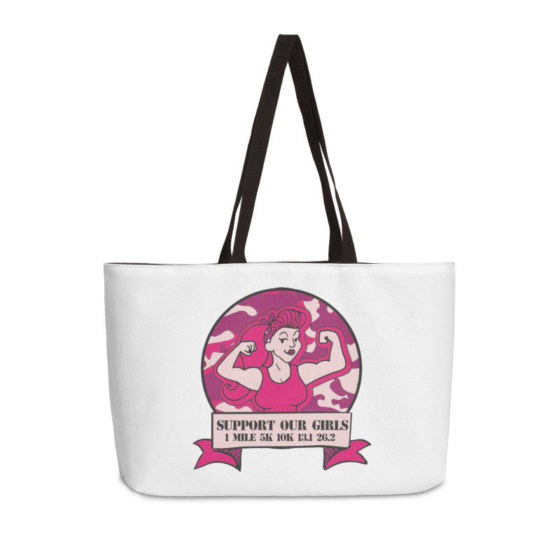 Support Our Girls Accessories Weekender Bag Bag by Moon Joggers's Artist Shop