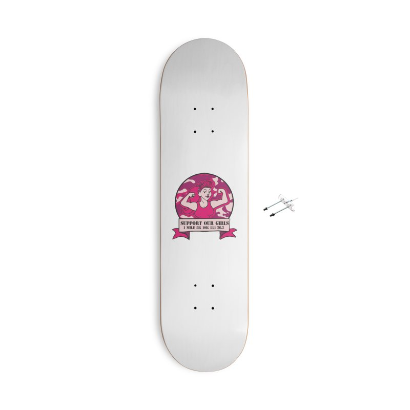 Support Our Girls Accessories With Hanging Hardware Skateboard by Moon Joggers's Artist Shop