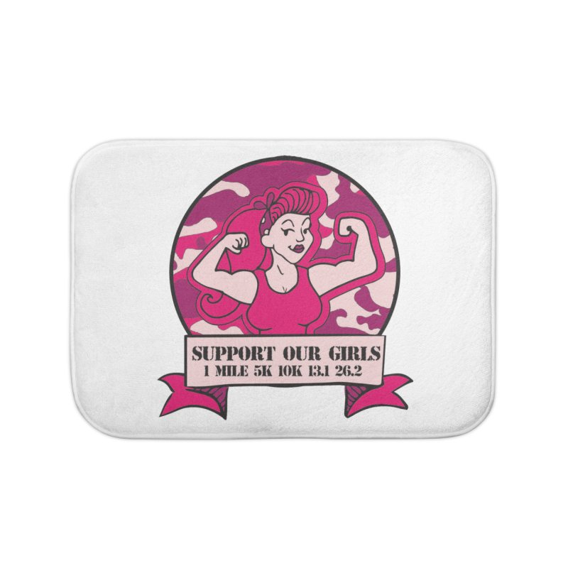 Support Our Girls Home Bath Mat by Moon Joggers's Artist Shop