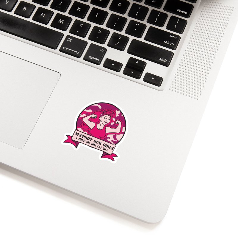 Support Our Girls Accessories Sticker by Moon Joggers's Artist Shop