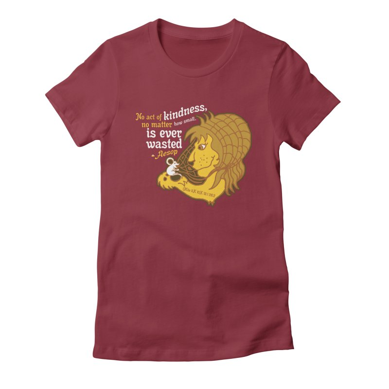 World Kindness Day Women's Fitted T-Shirt by Moon Joggers's Artist Shop
