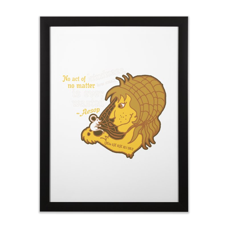 World Kindness Day Home Framed Fine Art Print by Moon Joggers's Artist Shop
