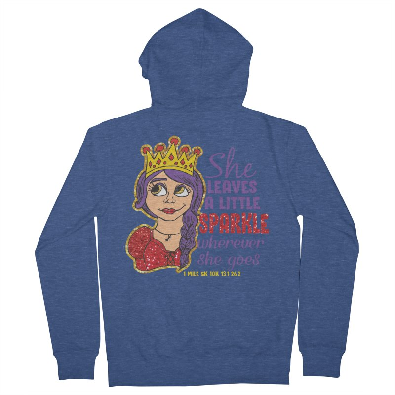 Princess Dash Men's French Terry Zip-Up Hoody by Moon Joggers's Artist Shop