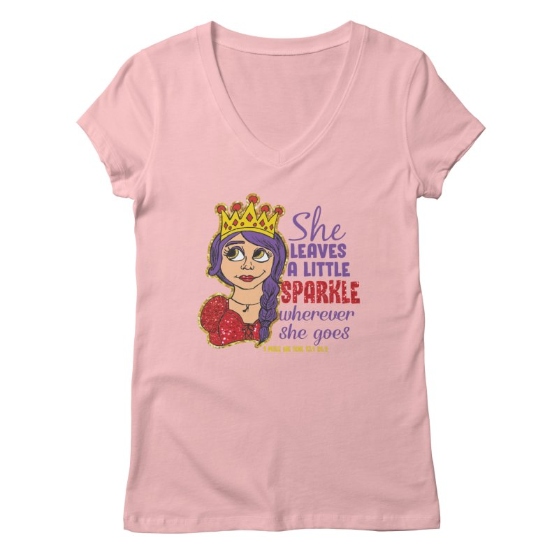 Princess Dash Women's Regular V-Neck by Moon Joggers's Artist Shop