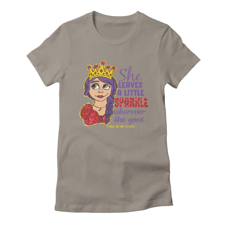 Princess Dash Women's Fitted T-Shirt by Moon Joggers's Artist Shop