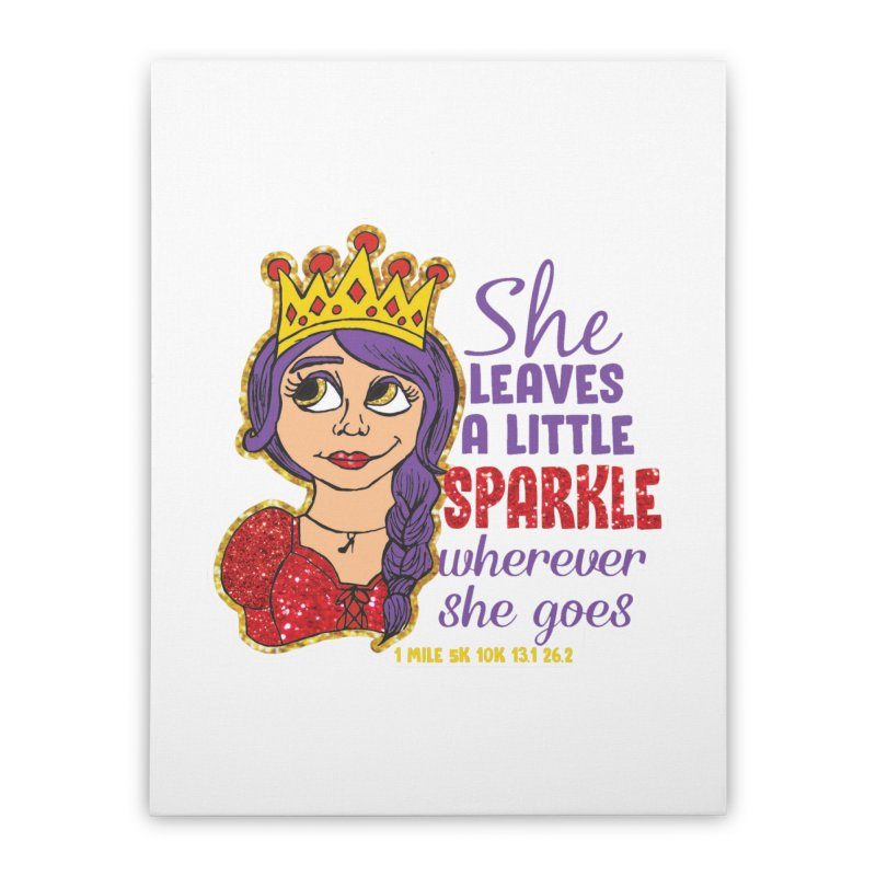 Princess Dash Home Stretched Canvas by Moon Joggers's Artist Shop