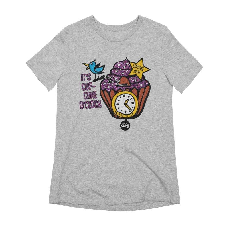 Cupcake O'Clock Women's Extra Soft T-Shirt by Moon Joggers's Artist Shop